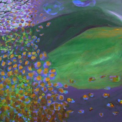 <strong>Autumn</strong><br><p>Acrylic on deep edge canvas</p><br><p>100 x 100 x 4.5 cm</p>